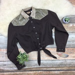 Wrangler | Vintage 90s Western Button Up Top